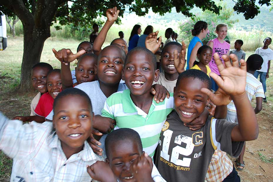 Group of sponsored orphans in Limpopo, South Africa