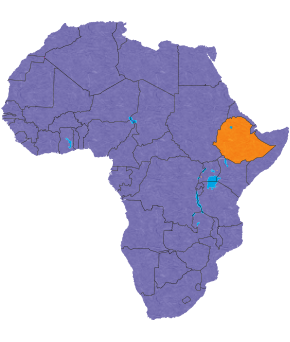 Ethiopia's location in Africa