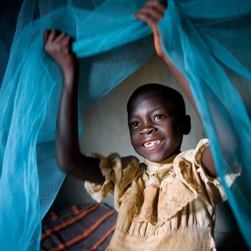 girl with mosquito net