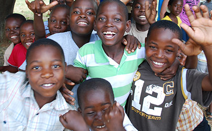 Group of Horizon sponsored orphans in Limpopo, South Africa