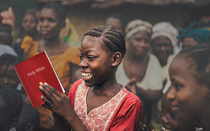 girl with a bible